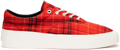 Converse Twisted Plaid Skid Grip Red 169219C