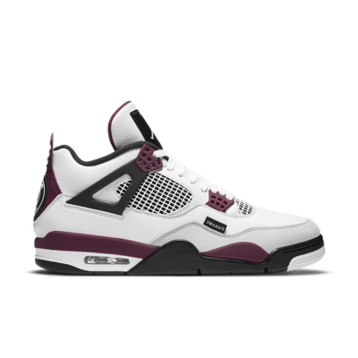 Air Jordan 4 'Paris Saint-Germain' White/Neutral Grey/Black/Bordeaux CZ5624-100