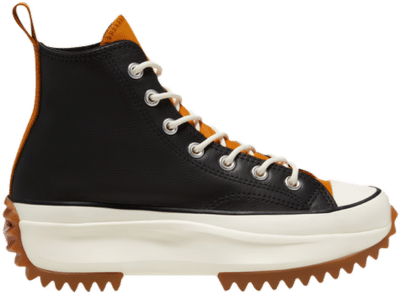 Converse Run Star Hike Hi Leather Black Saffron (W) 568649C