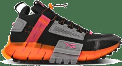 Reebok Zig Kinetica Edge Schoenen Black / Proud Pink / High Vis Orange FU8182
