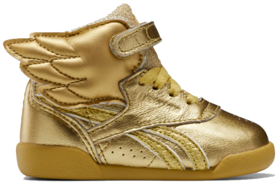 Reebok Freestyle Hi Schoenen – Peuter Gold Metallic / Gold Metallic / Excellent Red FW4678