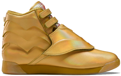 Reebok Freestyle Hi Schoenen Gold Metallic / Gold Metallic / Excellent Red FW4667