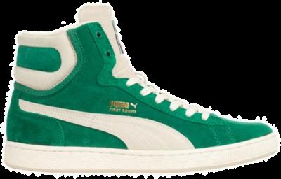 PUMA First Round Suede Leren sneakers 355344-04 groen 355344-04