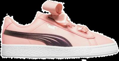 PUMA Basket Heart Tween Shimmer Meisjes Sneakers 370088-02 roze 370088-02
