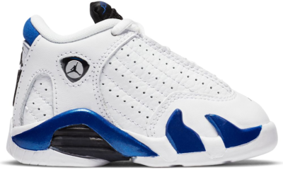 Jordan 14 Retro White Hyper Royal (TD) 312093-104