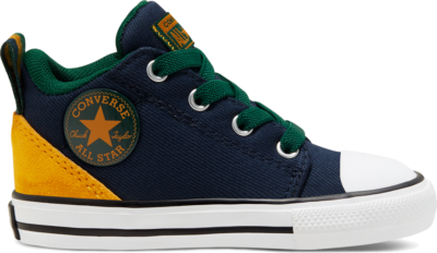 Converse Toddlers' Twill Twist Chuck Taylor All Star Ollie Mid Obsidian/Saffron Yellow 768421C