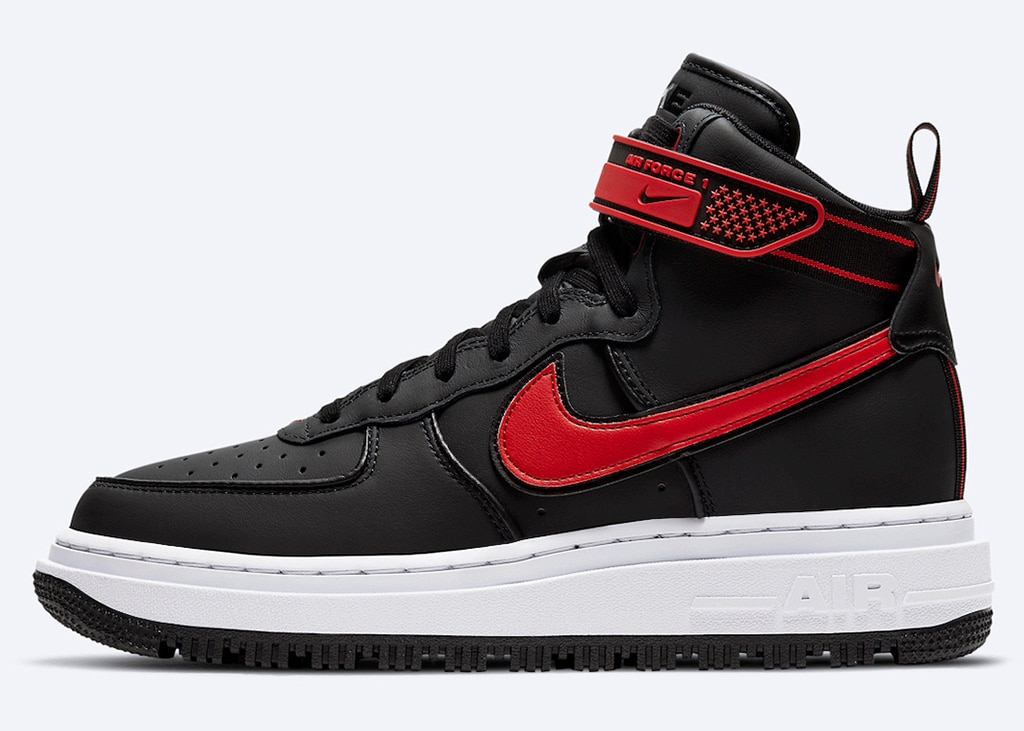 Nieuwe colorway voor de Nike Air Force 1 High Winter in zwart en rood