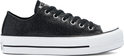 Converse Glitter Shine Platform Chuck Taylor All Star Low Top voor dames Black 569377C