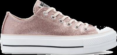 Converse Glitter Shine Platform Chuck Taylor All Star Low Top voor dames Silt Red/Black/White 569378C