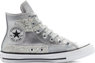 Converse Glitter Shine Chuck Taylor All Star High Top Ash Stone/Black/White 569426C