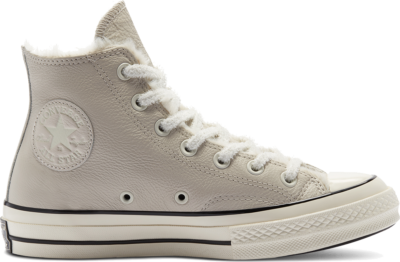Converse Cozy Club Chuck 70 High Top voor dames Lt Orewood Brown/Egret/Black 569515C