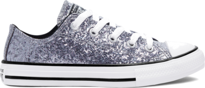 Converse Coated Glitter Chuck Taylor All Star Low Top Black/Bright Coral/White 669296C