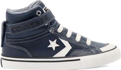 Converse Leather & Heathered Knit Pro Blaze Strap High Top voor kinderen Obsidian/Lakeside Blue/Egret 669318C