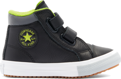 Converse Utility Leather Easy-On Chuck Taylor All Star PC Boot High voor peuters Black/Lemon Venom/Ash Stone 769332C