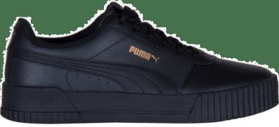 Puma Carina leren sportschoenen voor Dames Goud / Zwart 370325_08