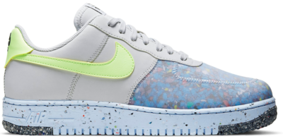 Nike Air Force 1 Crater Pure Platinum Barely Volt CZ1524-001