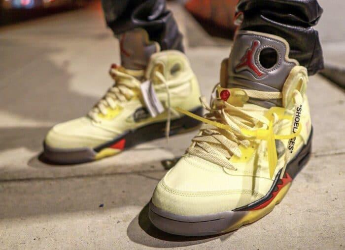 Air Jordan 5 off white