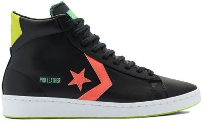 Converse Pro Leather Hi Hi-Vis Black 169651C