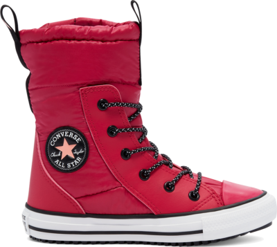 Converse Water Repellent Chuck Taylor All Star MC Boot High Top Pink Pop/White/Black 669334C