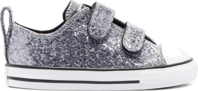Converse Coated Glitter Easy-On Chuck Taylor All Star Low Top Black/Bright Coral/White 769297C