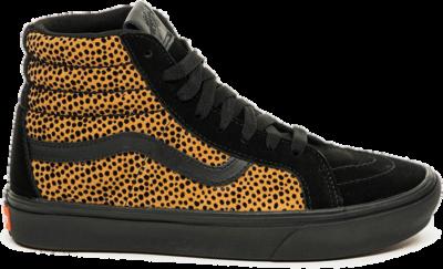 Vans Sk8-Hi Cheetah Zwart/Bruin ComfyCush Dames  VA3WMCVWS1