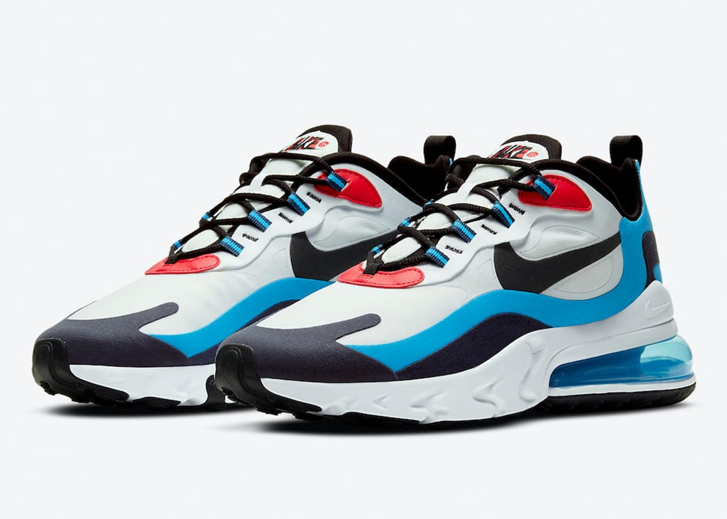 Binnenkort komen de Nike Air Max 270 React Photo Blue University Red