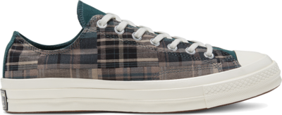 Converse Unisex Twisted Prep Chuck 70 Low Top Black/Faded Spruce/Mason Taupe 166852C