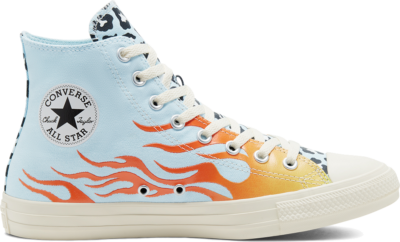 Converse Twisted Archive Prints Chuck Taylor All Star High Top Agate Blue/Black/Total Orange 167927C