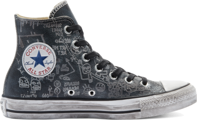 Converse Distressed Graffiti Chuck Taylor All Star High Top Black Graffiti Dirty 169928C