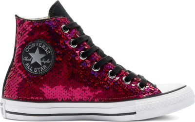 Converse Purple & Silver Sequins Chuck Taylor All Star High Top Purple Silver Sequins 169931C