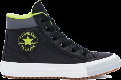 Converse Utility Leather Chuck Taylor All Star PC Boot High Top Black/Lemon Venom/Ash Stone 669331C