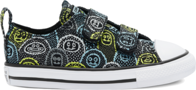 Converse Are You Yeti? Easy-On Chuck Taylor All Star Low Top Black/Azure Haze/Lemon Venom 769305C