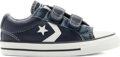 Converse Leather + Heathered Knit Easy-On Star Player Low Top Black 770031C