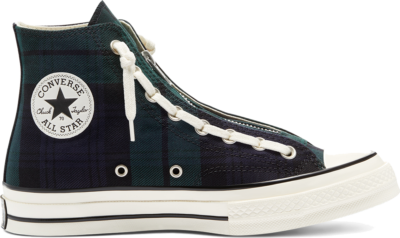 Converse Tartan Chuck 70 Zip High Top Green/Blue/Egret 169258C