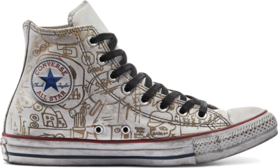 Converse CTAS LEATHER LTD HI WHITE GRAFFITI White Graffiti 169927C