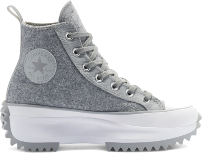 Converse Unisex Black Ice Run Star Hike High Top Ash Stone/Silver/White 169438C