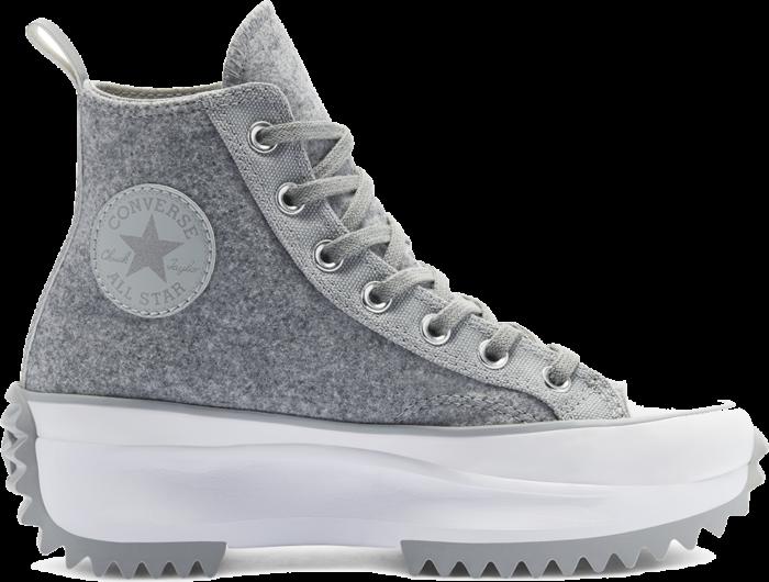 Converse Unisex Black Ice Run Star Hike High Top Ash Stone/Silver/White 169438C