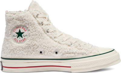 Converse Winter Holidays Chuck 70 High Top Egret/Gym Red/Midnight Clover 170048C