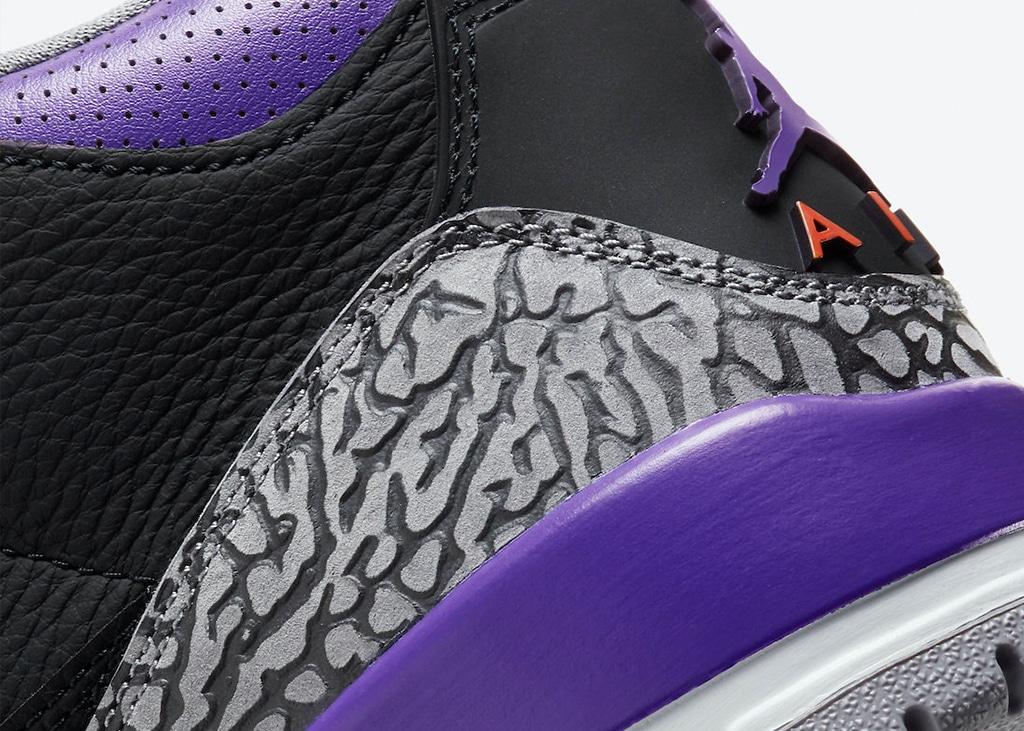 Officiële foto's uitgebracht door Nike van de Air Jordan 3 Court Purple