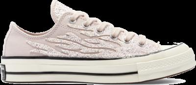 Converse Glitter Shine Chuck 70 Low Top Shoe Silt Red/Egret/Black 569537C
