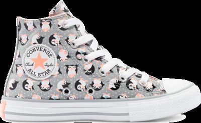 Converse Tundra Print Chuck Taylor All Star High Top Shoe Ash Stone/Bright Coral/White 669290C
