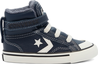 Converse Leather & Heathered Knit Pro Blaze Strap High Top Shoe Obsidian/Lakeside Blue/Egret 769320C