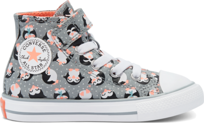 Converse Tundra Print Chuck Taylor All Star High Top Shoe Ash Stone/Bright Coral/White 769566C