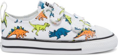 Converse Dinoverse Easy-On Chuck Taylor All Star Low Top Shoe White/Cape Blue/Flash Orange 769673C