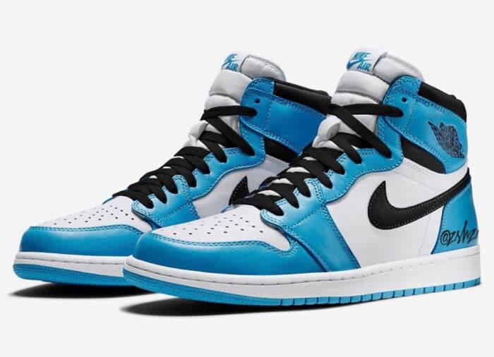 Air Jordan 1 white university blue