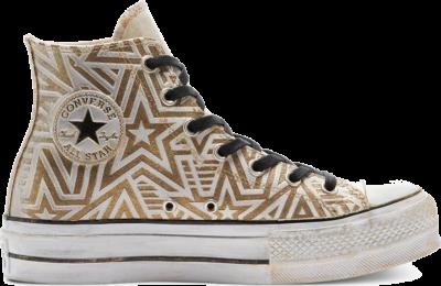 Converse CTAS LIFT LEATHER LTD HI GOLD Gold Stars 569925C