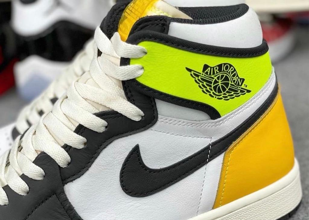 Betere beelden opgedoken van de Air Jordan 1 Volt Gold. Haten of dragen?