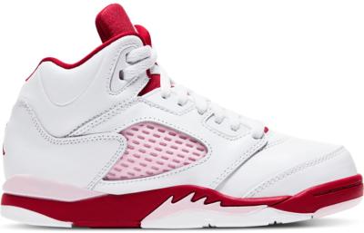 Jordan 5 Retro White Pink Red (PS) 440893-106