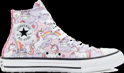 Converse Big Kids Neon Unicorn Chuck Taylor All Star High Top Pink Foam/Multi/White 669107C
