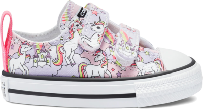 Converse Toddler Neon Unicorn Easy-On Chuck Taylor All Star Low Top Pink Foam/Multi/White 769108C